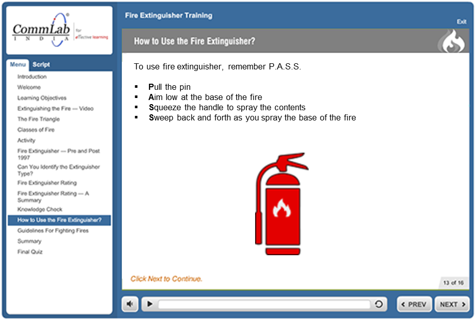 How to use fire extinguisher before