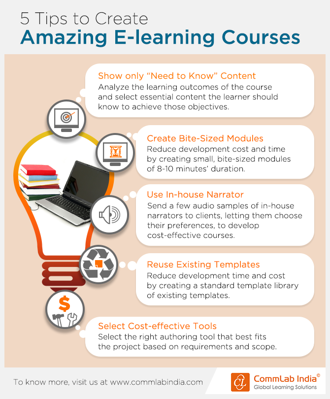 5 Tips to Create Amazing E-learning Courses [Infographic]