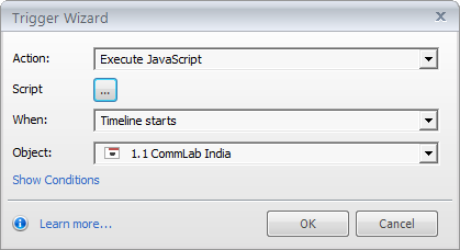 Add a trigger to execute javascript code