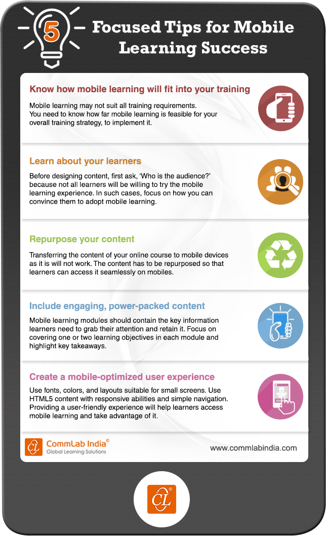 5 Focused Tips for Mobile Learning Success [Infographic]