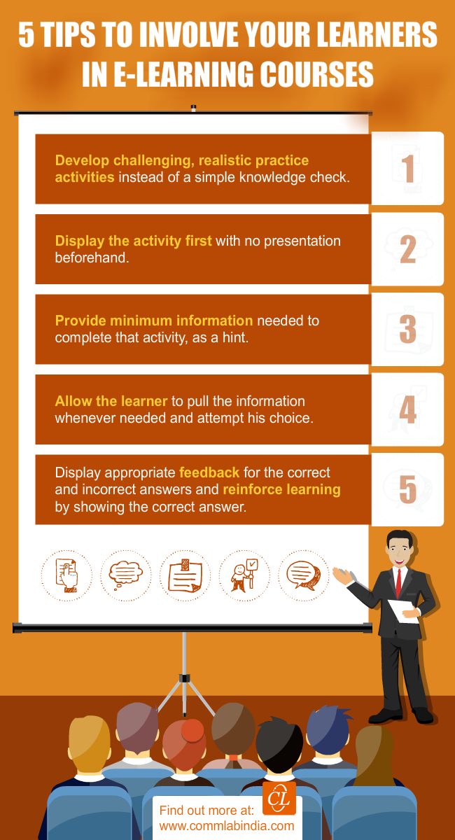 5 Tips to Involve your Learners in E-learning Courses [Infographic]