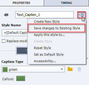Changing the Captions for Software Simulations in Adobe Captivate 9