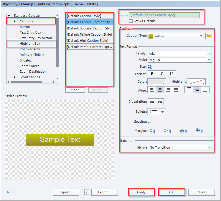 Object Style Manager in Adobe Captivate 9