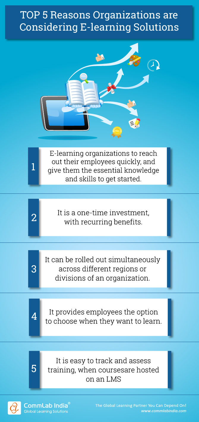 Top 5 Reasons Organizations Are Considering E-learning Solutions [Infographic]