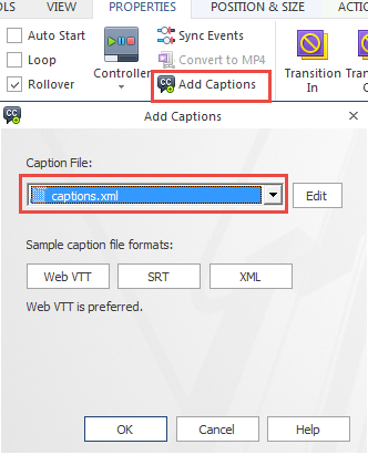 Add Closed Captioning to Video and Audio Files