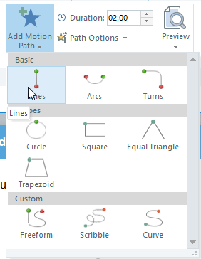 Select the object and go to animations tab