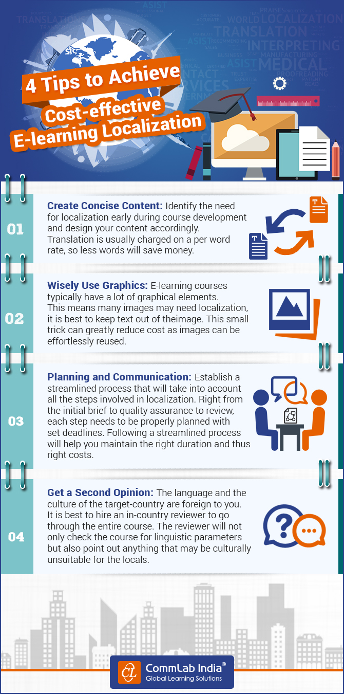 4 Tips for Cost-effective E-learning Localization [Infographic]