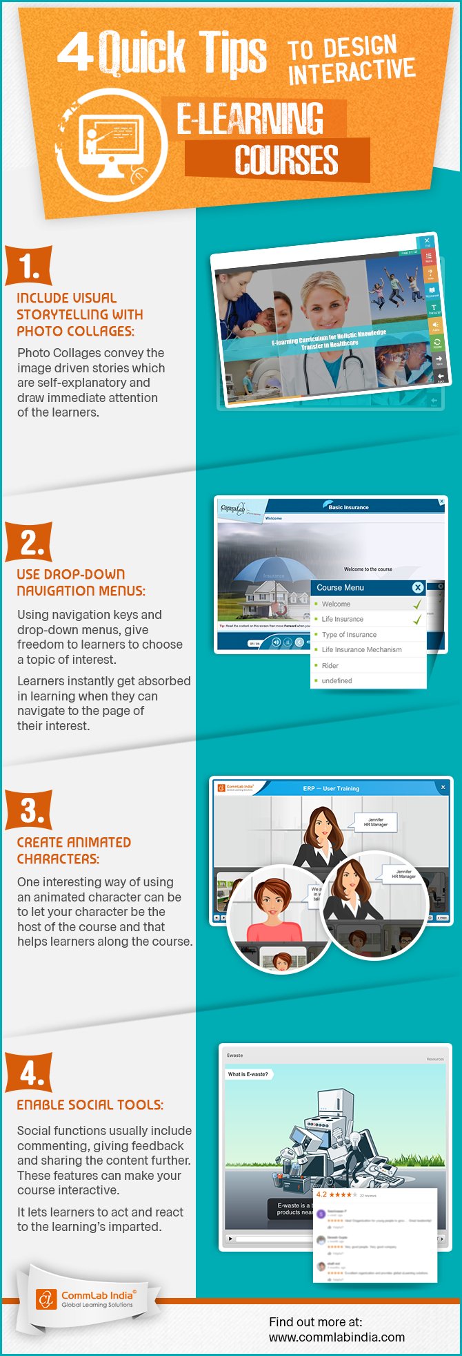 4 Quick Tips to Design Interactive E-learning Courses [Infographic]