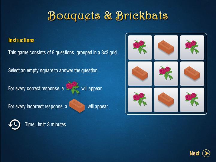 Bouquets and Brickbats