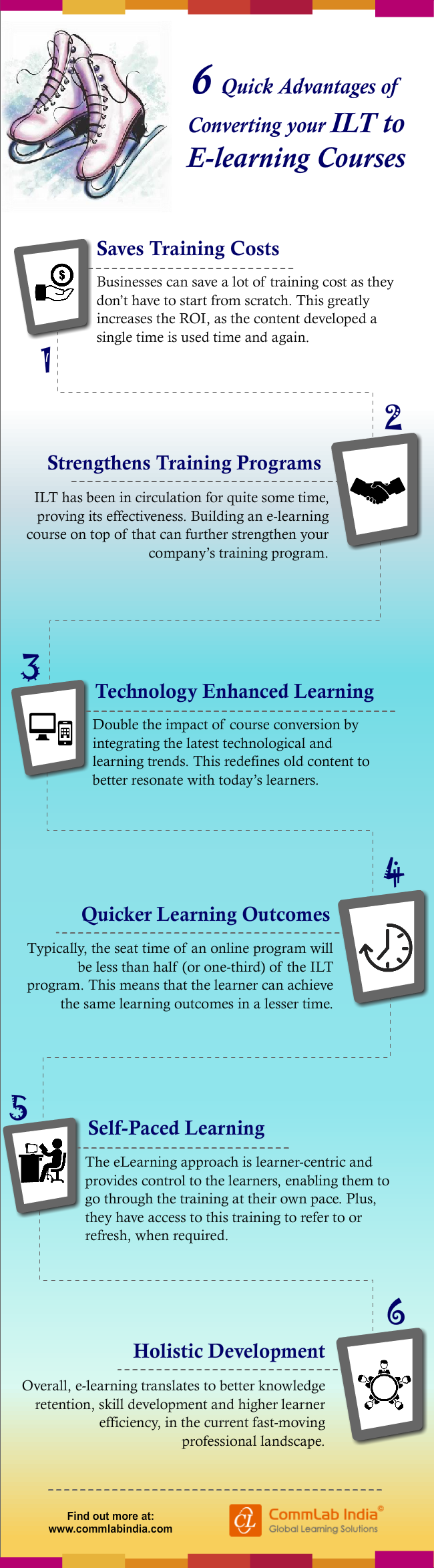 6 Quick Advantages of Converting Your ILT to E-learning Courses [Infographic]