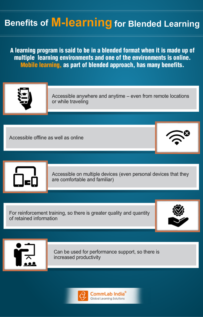 Benefits of M-learning for Blended Learning [Infographic]