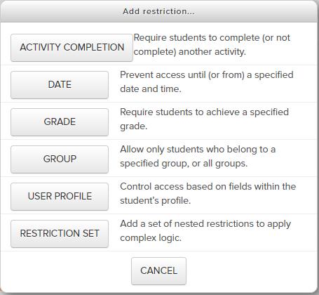 Perquisites or Restrictions