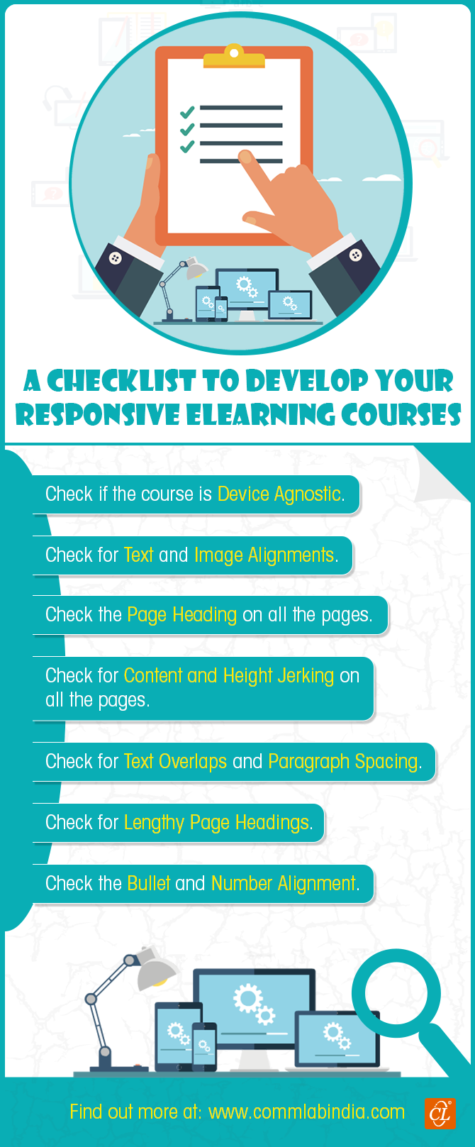 A Checklist to Develop Responsive eLearning Courses [Infographic]