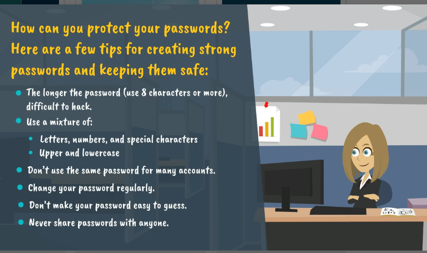 Video screenshot on password protection
