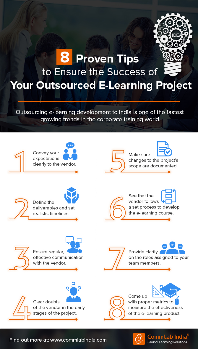 8 Proven Tips to Ensure the Success of Your Outsourced E-learning Project [Infographic]