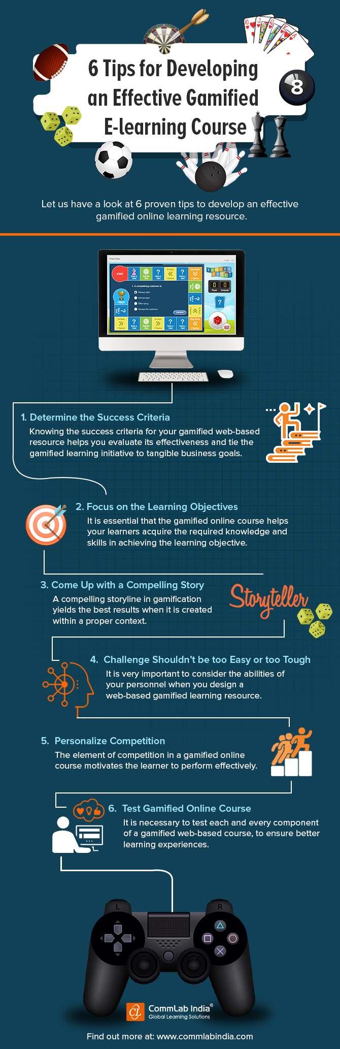 6 Tips for Developing an Effective Gamified E-learning Course [Infographic]