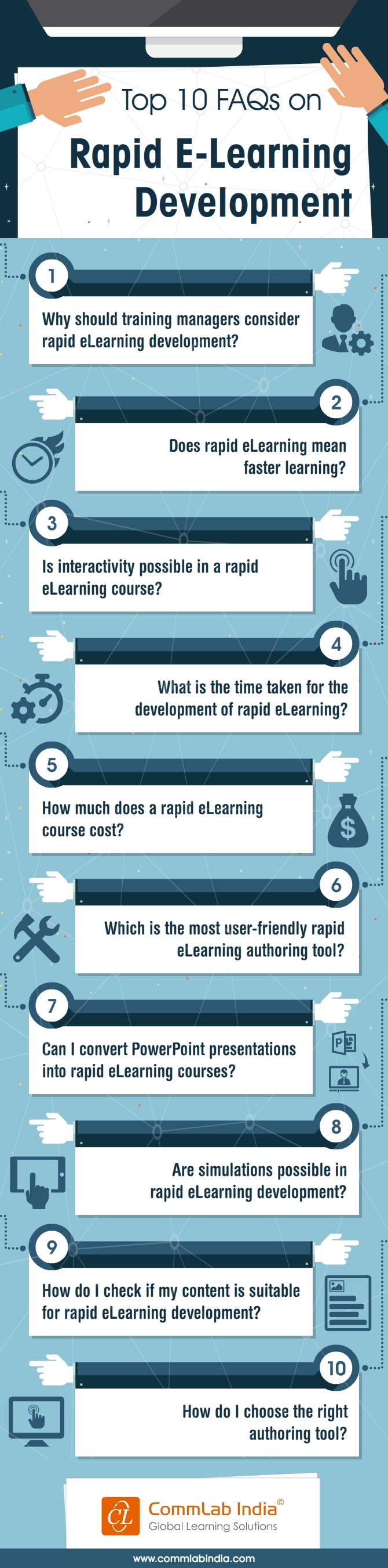 Top 10 FAQs on Rapid E-Learning Development [Infographic]