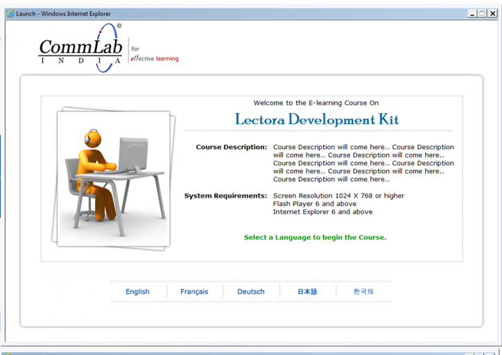 Multi lingual course conversion
