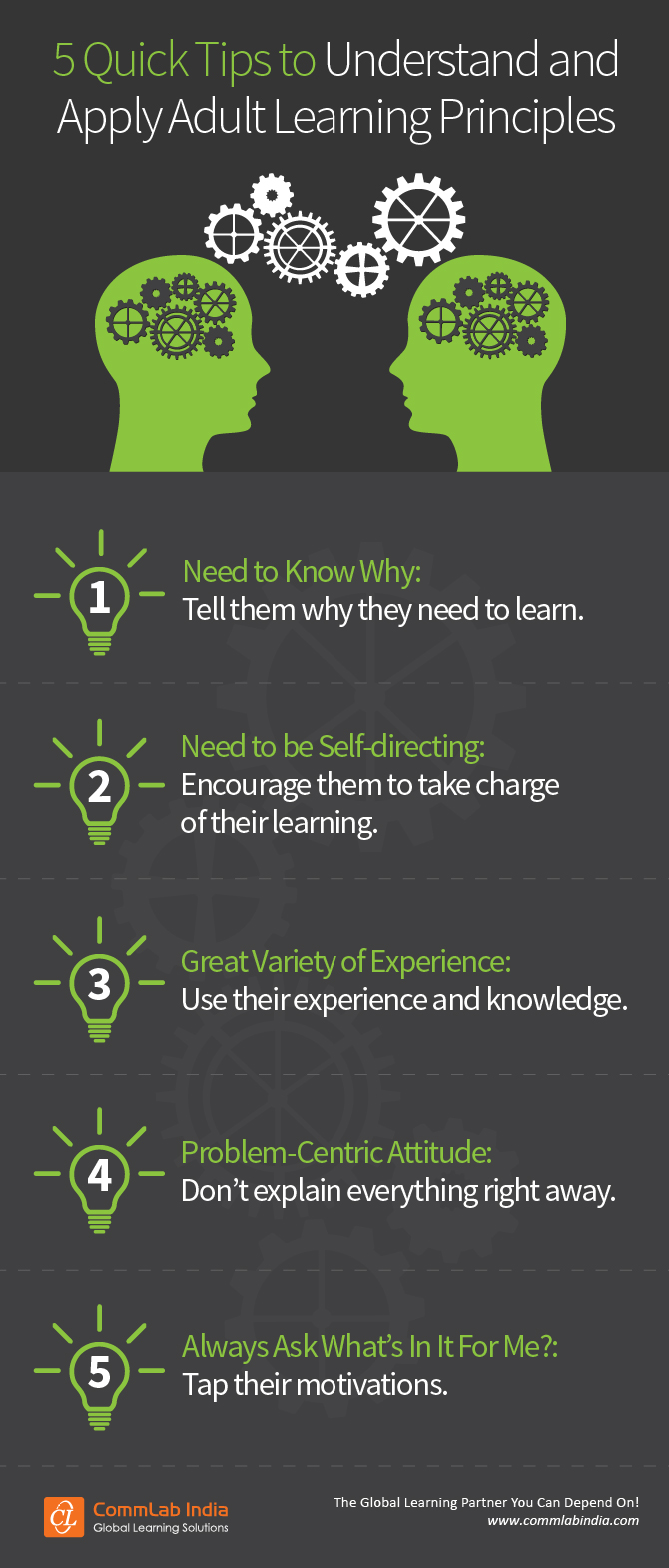 5 Quick Tips to Understand and Apply Adult Learning Principles [Infographic]