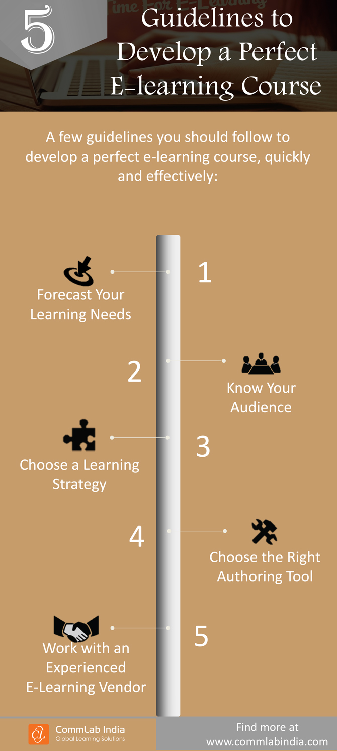 5 Guidelines to Develop a Perfect E-learning Course [Infographic]