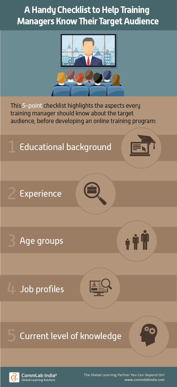 A Handy Checklist to Help Training Managers Know Their Target Audience [Infographic]