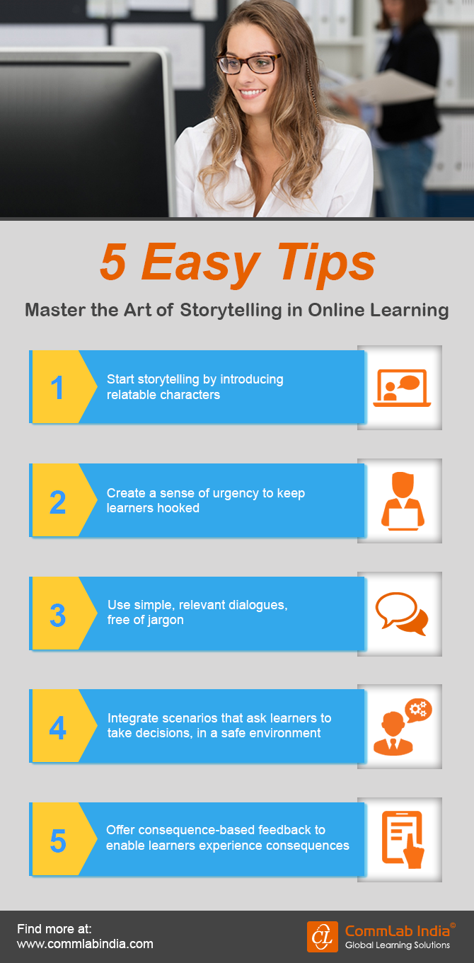 5 Easy Tips Master the Art of Storytelling in Online Learning [Infographic]