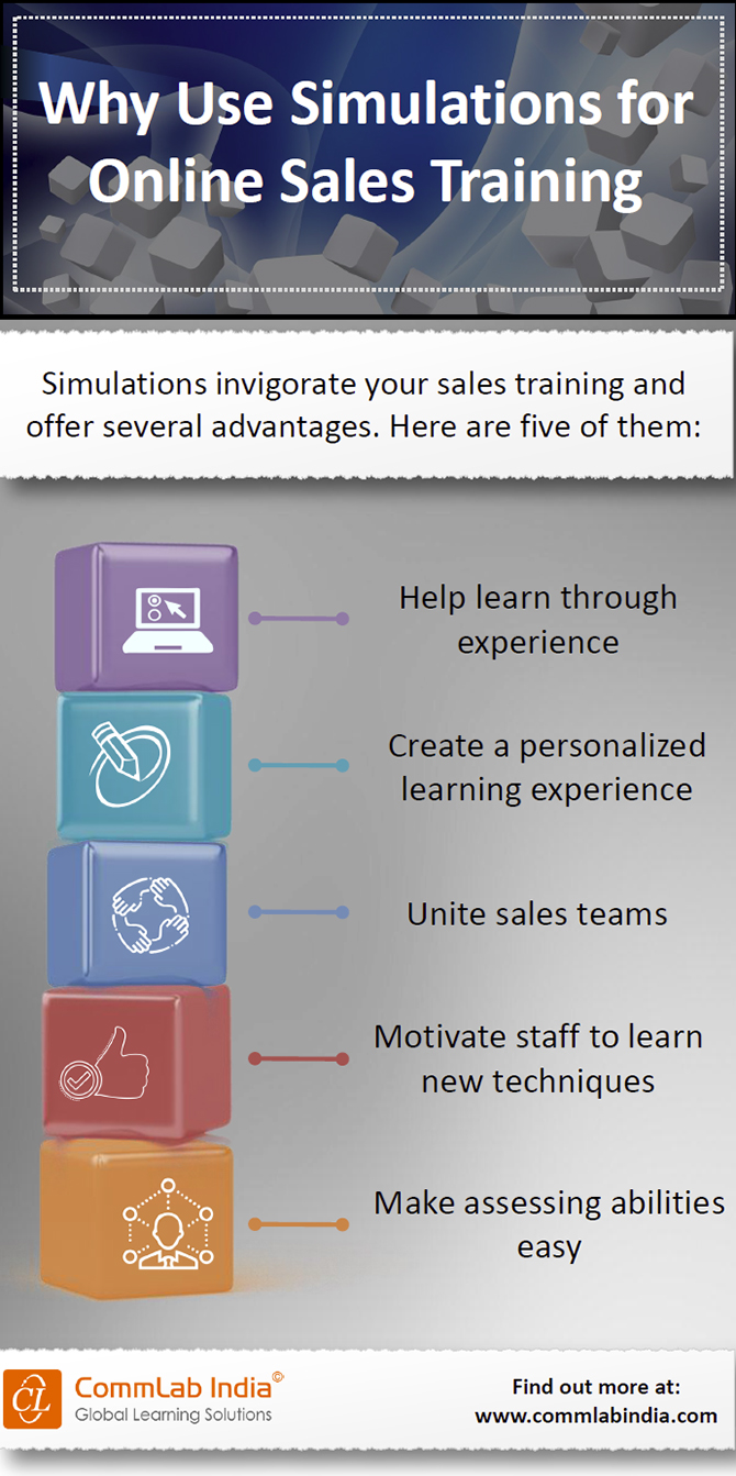 Why Use Simulations for Online Sales Training [Infographic]