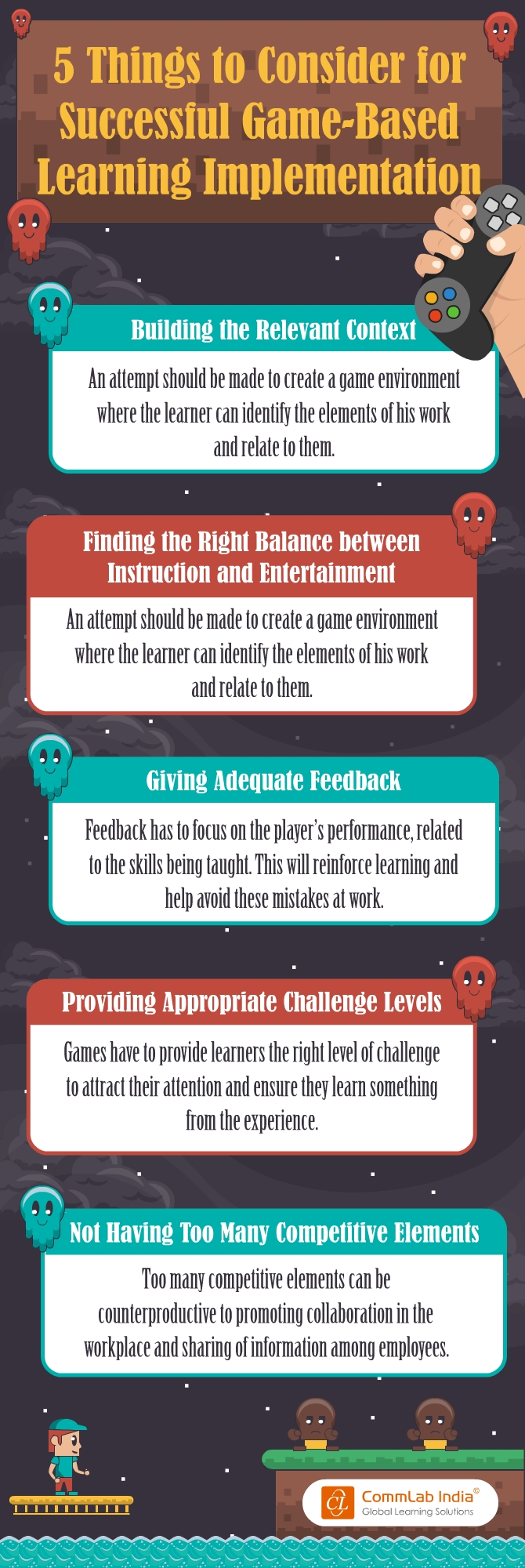 5 Things to Consider for Successful Game-based Learning Implementation [Infographic]