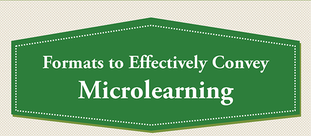 Formats to Effectively Convey Microlearning [Infographic]