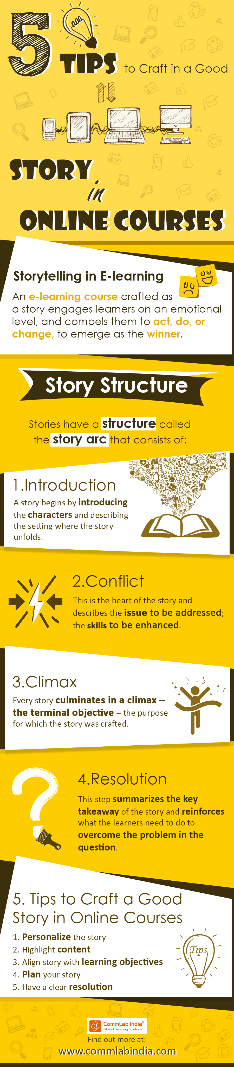 5 Tips to Craft a Good Story in Online Courses [Infographic]