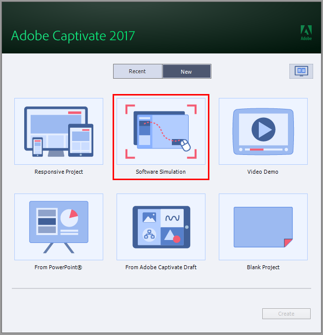 Simulations using Adobe Captivate