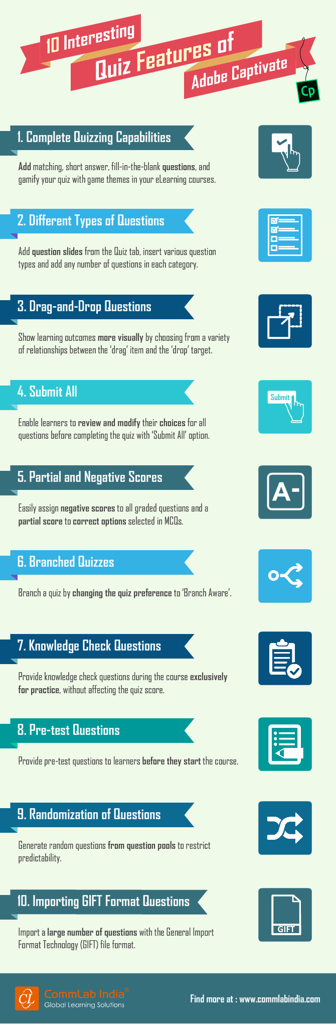 10 Interesting Quiz Features of Adobe Captivate [Infographic]