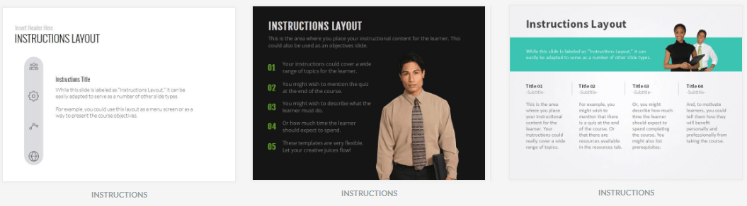 Instruction layouts