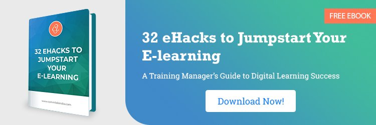 View E-book on 32 eHacks to Jumpstart Your E-learning