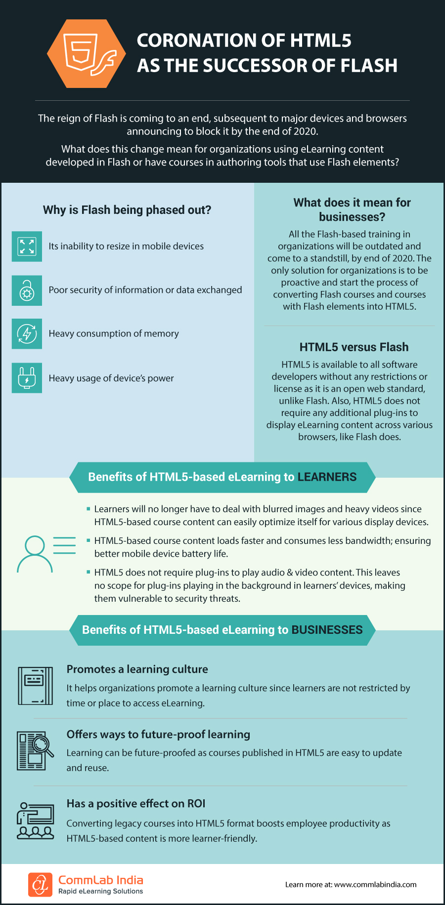 Coronation of HTML5 as the Successor of Flash [Infographic]