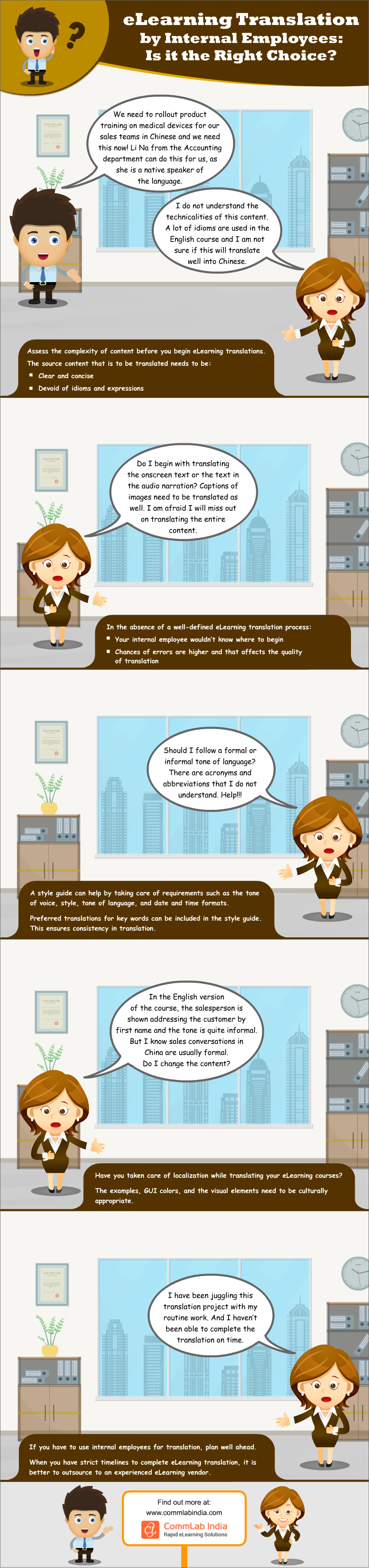 eLearning Translation by Internal Employees: Is it the Right Choice? [Infographic]