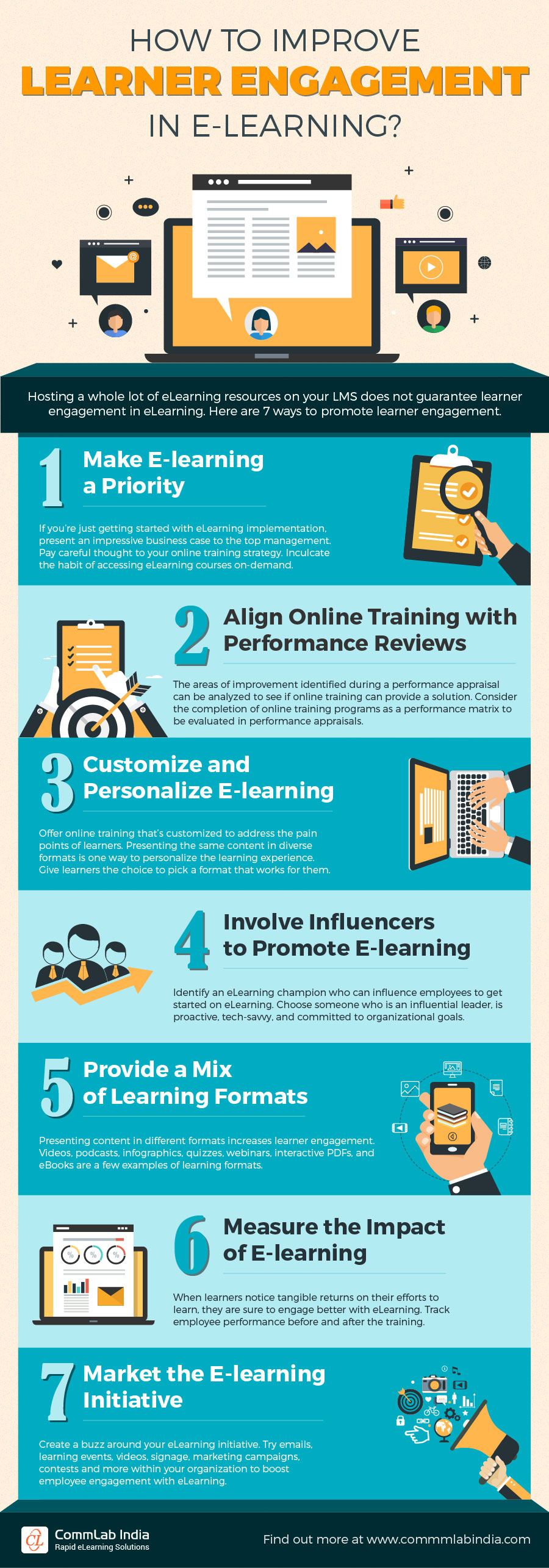 How to Improve Learner Engagement in E-learning? [Infographic]
