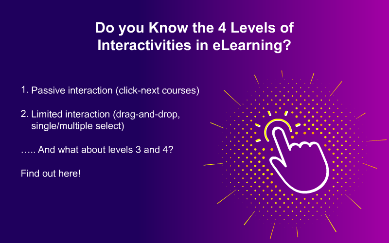 eLearning Interactivities: All About the 4 Levels and Examples
