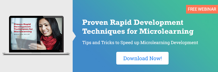 Proven Rapid Development Techniques for Microlearning