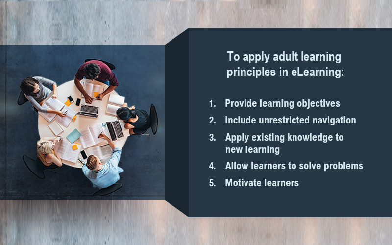 How to Use the Principles of Adult Learning in eLearning [Infographic]