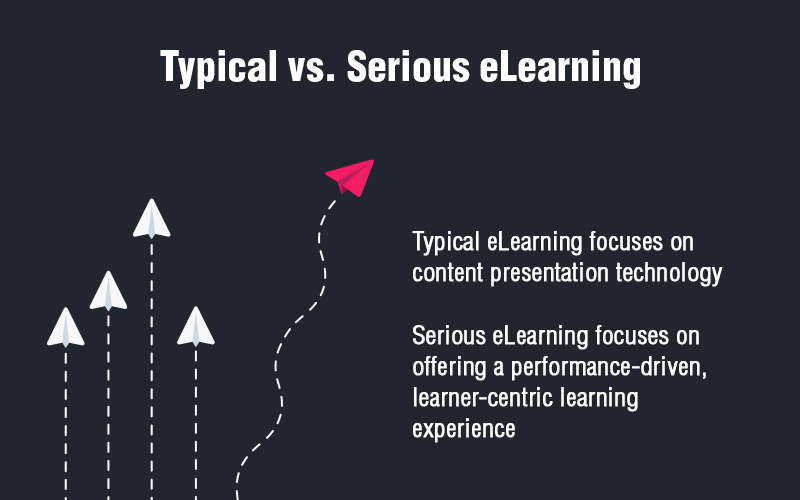 Typical eLearning vs. Serious eLearning: What's the Difference?