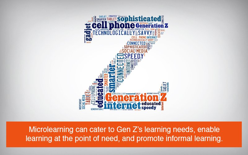 Why is Microlearning a Good Fit for Gen Z Learners [Infographic]