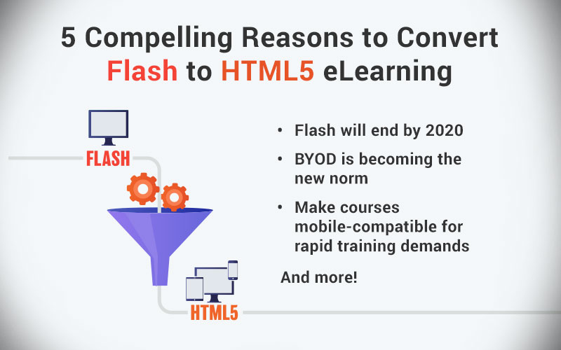 5 Compelling Reasons for Flash to HTML5 eLearning Migration