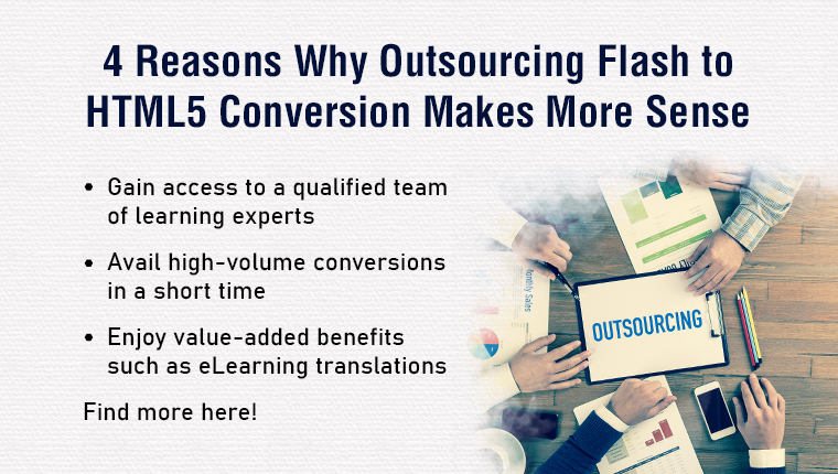 Flash to HTML5 Conversion: 4 Reasons You Should Outsource!