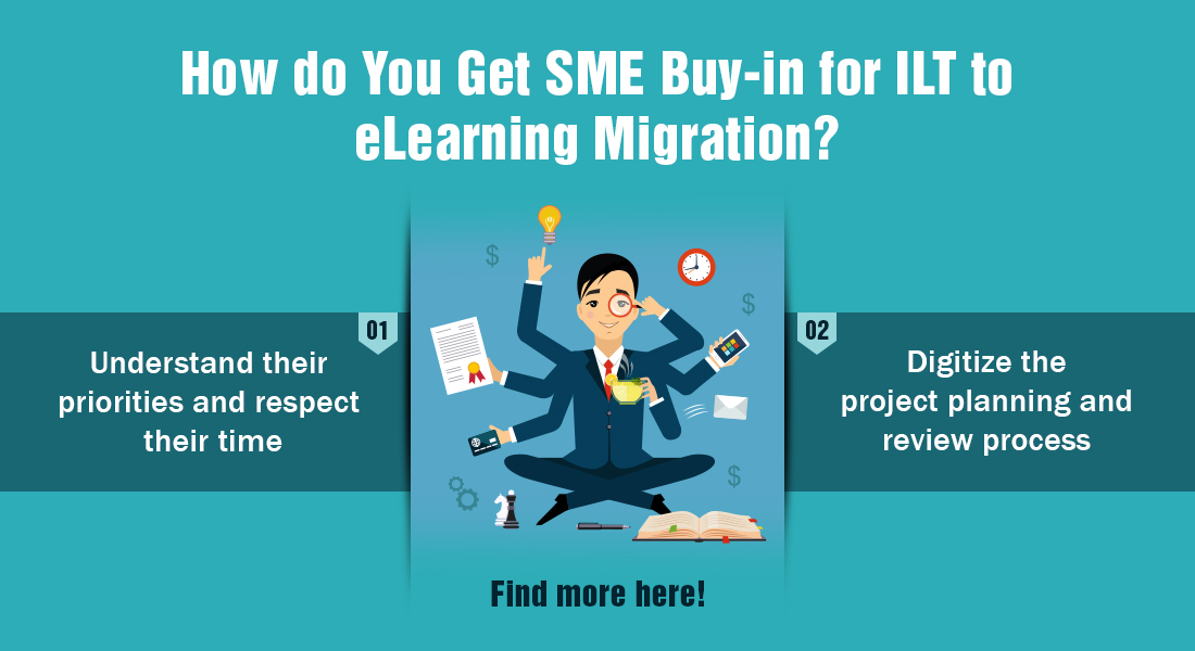 3 Steps to Gain SME Buy-in for ILT to eLearning Migration [Infographic]