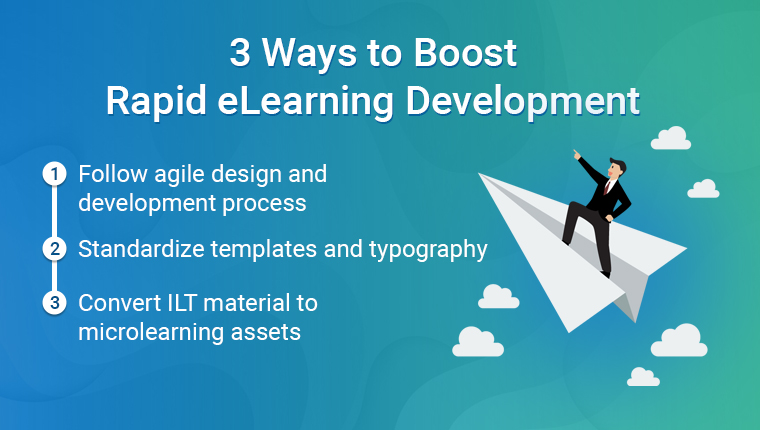 Rapid eLearning: 3 Ideas to Speed up the Design and Development Process