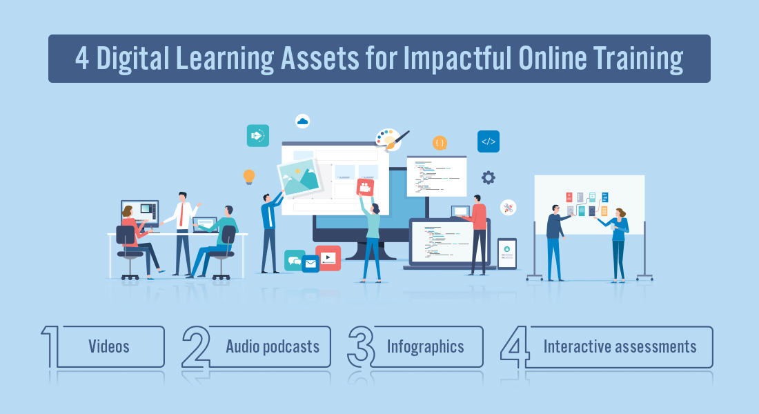 4 Digital Learning Assets to Jazz Up Online Training