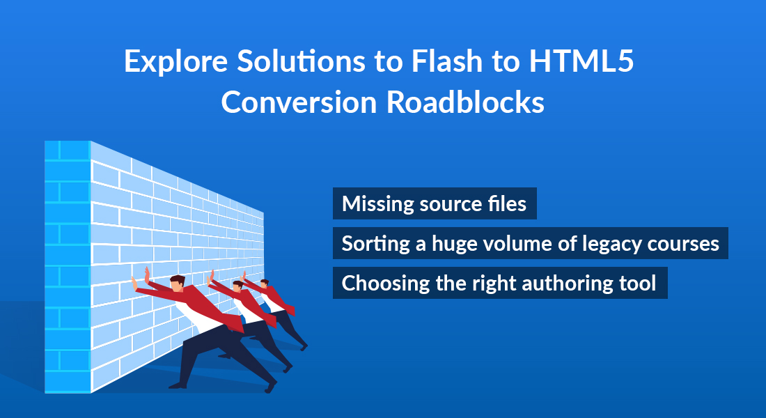 Flash to HTML5 Conversion – Roadblocks and Solutions