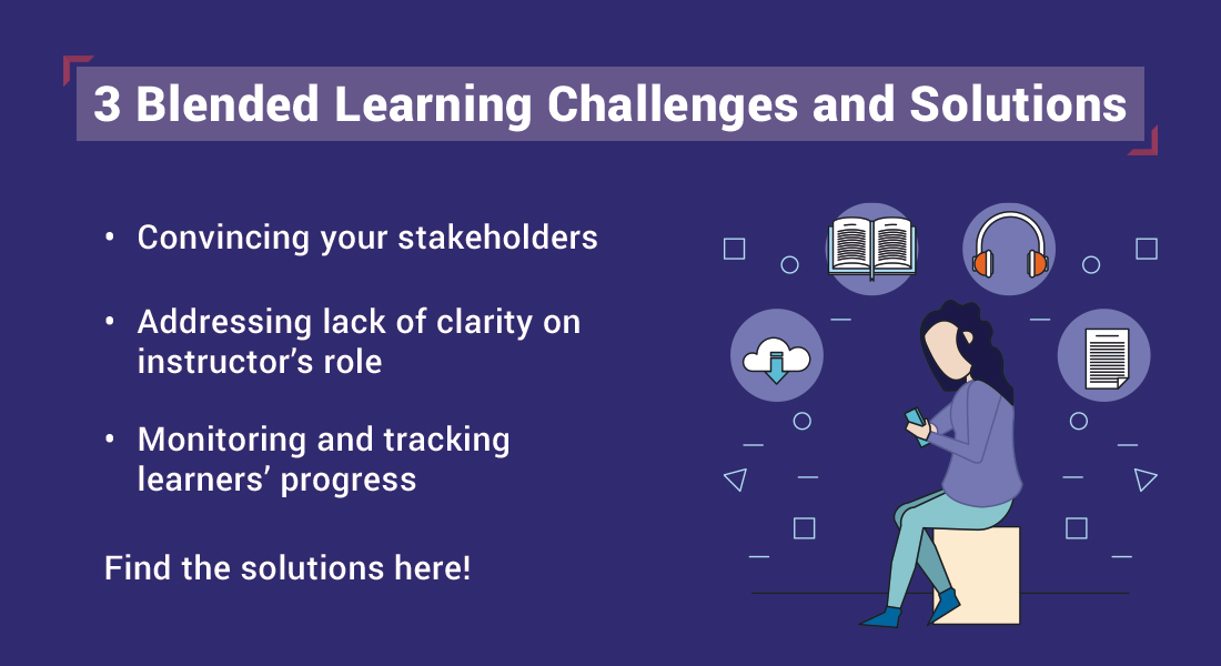 Blended Learning for Corporate Training: Overcome 3 Implementation Challenges [Infographic]