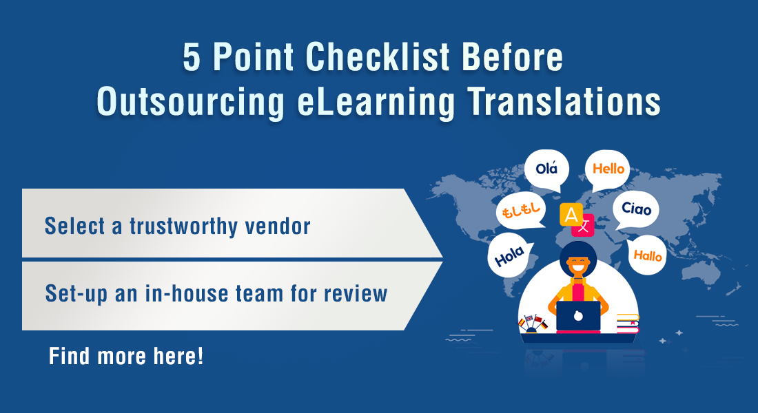 A Checklist Before Outsourcing eLearning Translation [Infographic]